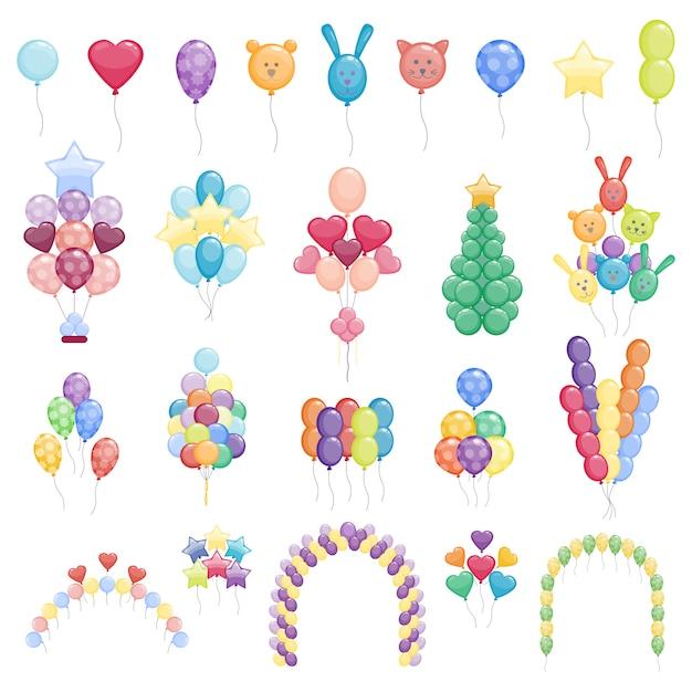 Collection De Ballons Vecteur Premium