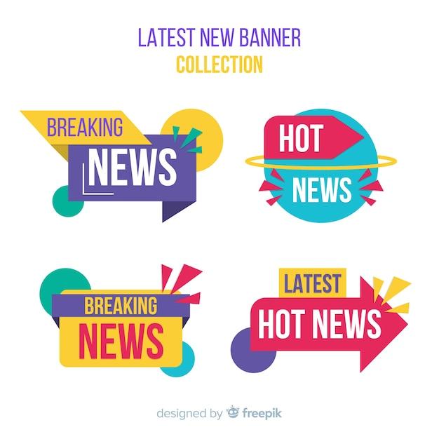 Collection de bannières colorées Vecteur gratuit
