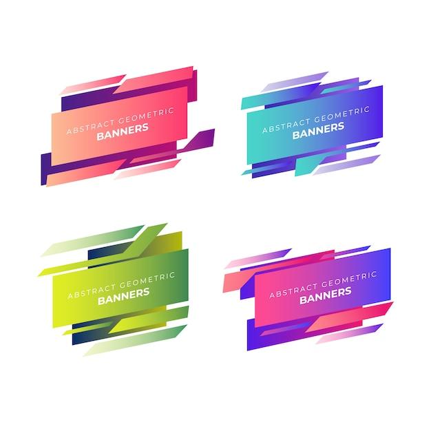 Collection de bannières géométriques abstraites Vecteur gratuit