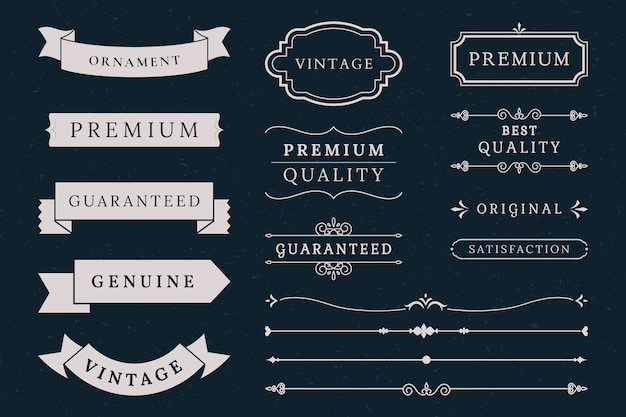 Collection de bannières de qualité supérieure Vecteur gratuit