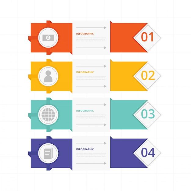 Collection de banniers infographiques Vecteur Premium