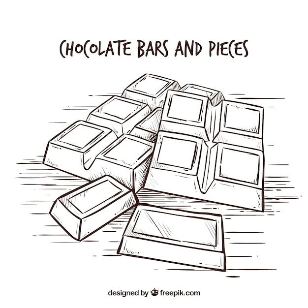 Collection de barres de chocolat Vecteur gratuit