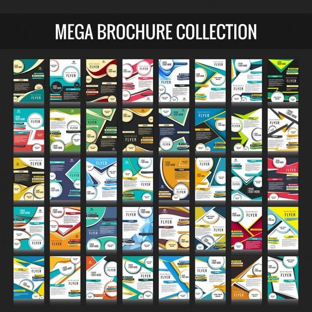 Collection de brochure d'affaires mega Vecteur gratuit