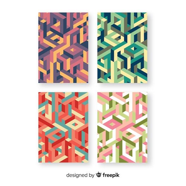 Collection de brochures de style isométrique Vecteur gratuit