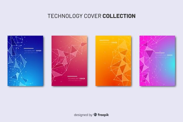 Collection de brochures technologiques colorées Vecteur gratuit