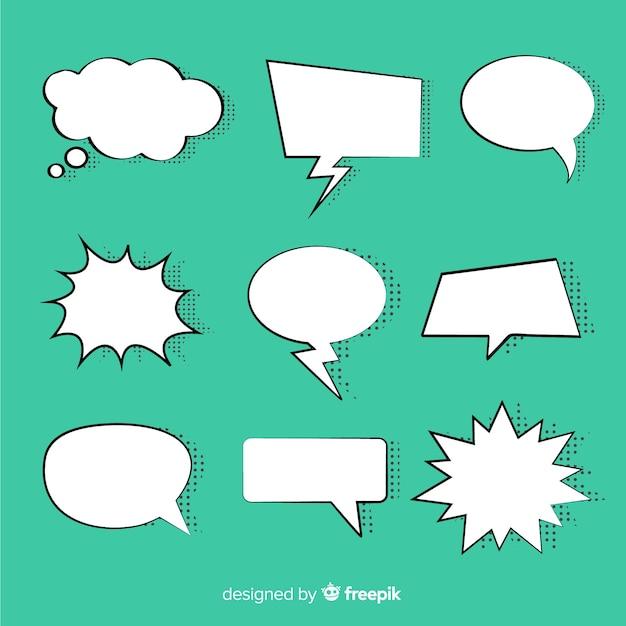 Collection de bulles de discours comiques Vecteur gratuit