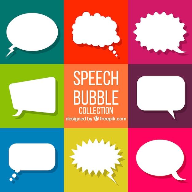 Collection de bulles de parole Vecteur gratuit