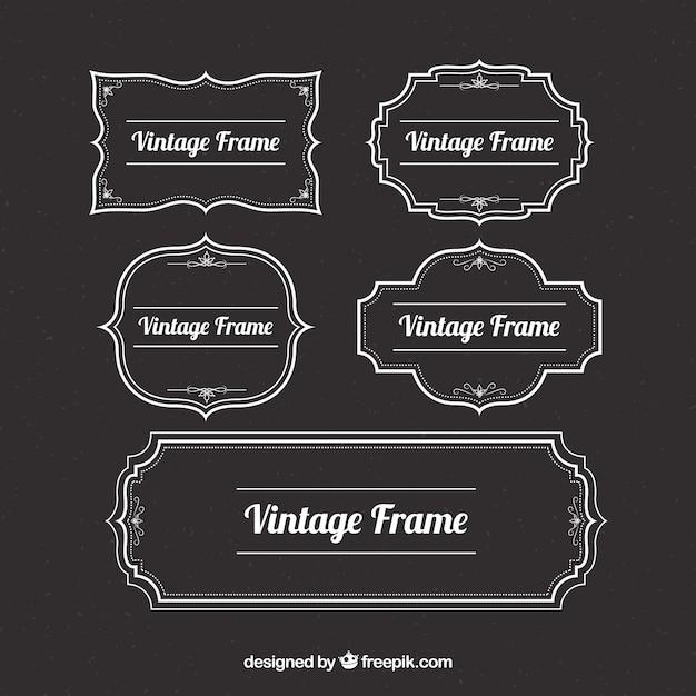 Collection de cadre vintage Vecteur gratuit
