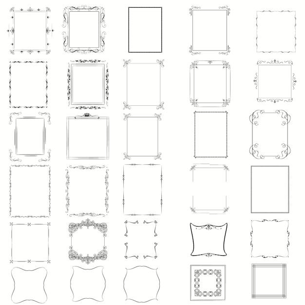 Collection de cadres décoratifs Vecteur gratuit