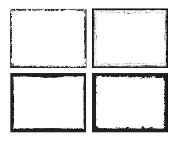 Collection de cadres noirs Vecteur Premium