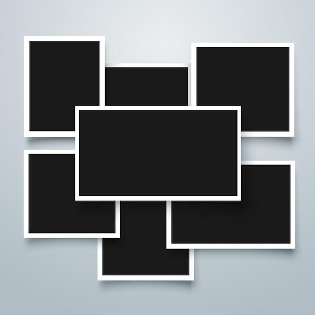 Collection de cadres polaroid Vecteur gratuit