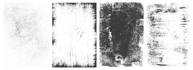 Collection De Cadres Rectangulaires Grunge Abstraite Vecteur gratuit