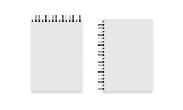 Collection De Cahier Blanc Sur Blanc Vecteur Premium