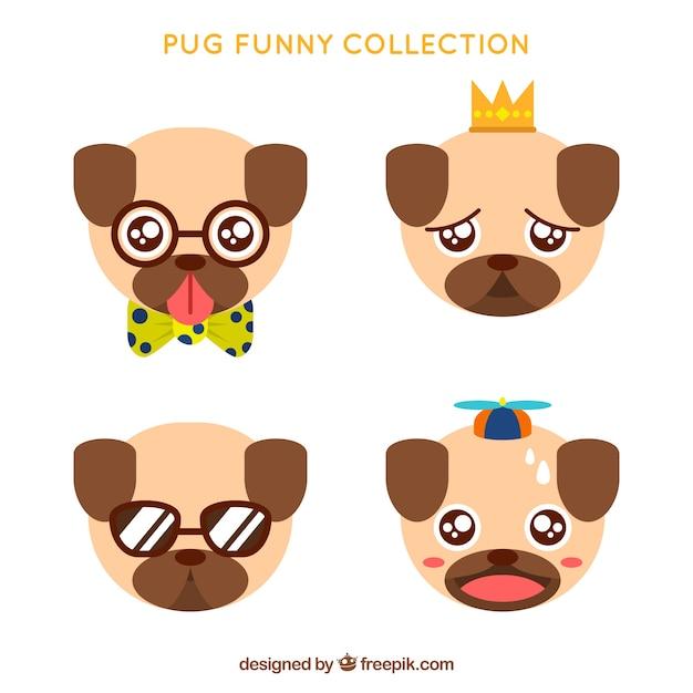 Collection Carlin Drôle | Vecteur Gratuite
