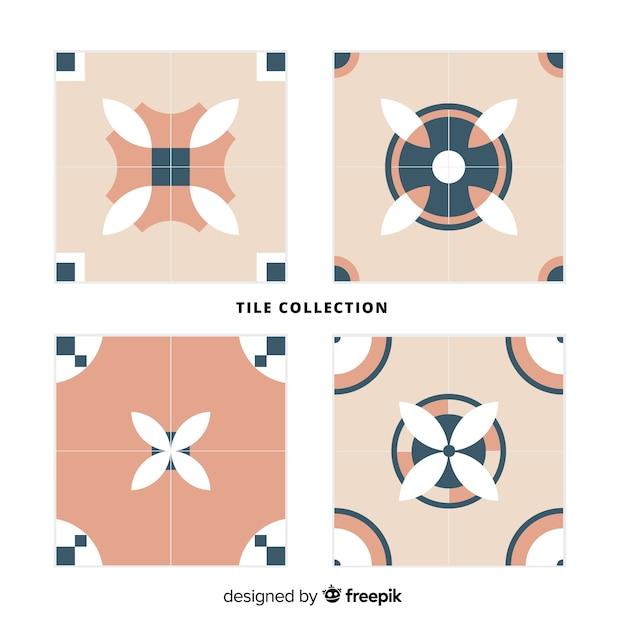 Collection De Carreaux Décoratifs Vecteur gratuit