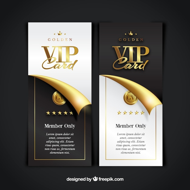 Collection De Carte Vip Vecteur gratuit