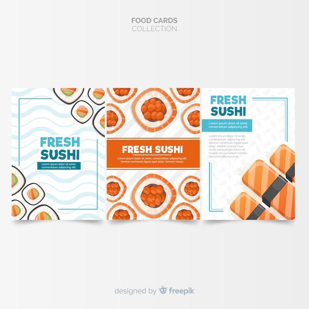 Collection de cartes plats Vecteur gratuit
