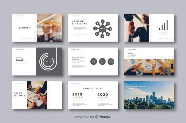 Collection de cartes pour présentation d'entreprise Vecteur gratuit