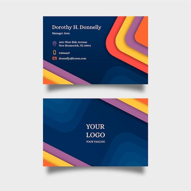 Collection de cartes de visite de modèle abstrait Vecteur gratuit