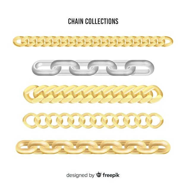 Collection de chaînes Vecteur gratuit