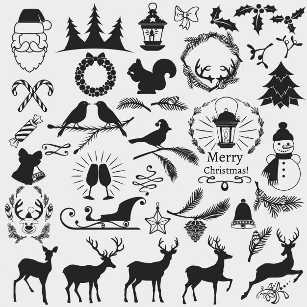 La Collection De Chrismas De Vecteur gratuit