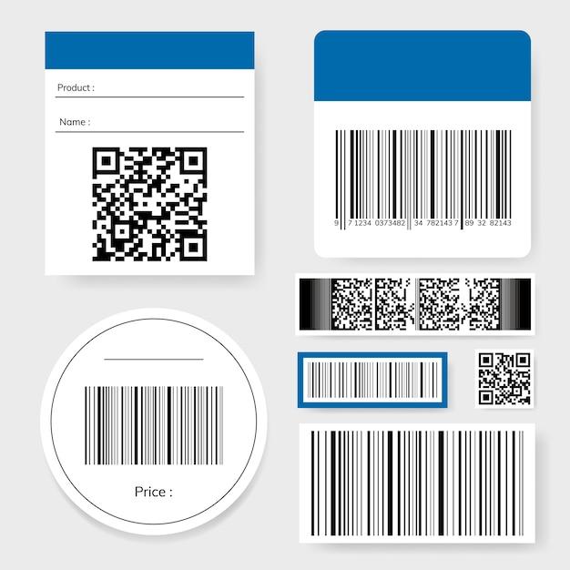Collection de codes à barres et de codes qr Vecteur gratuit
