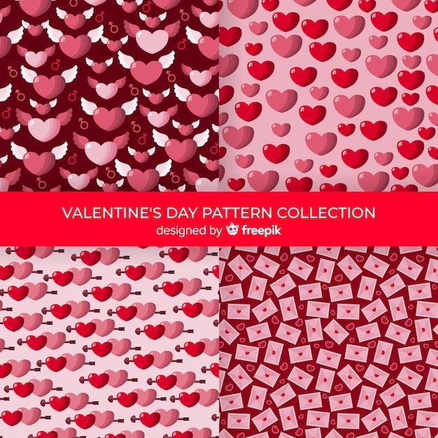 Collection de coeurs valentine Vecteur gratuit