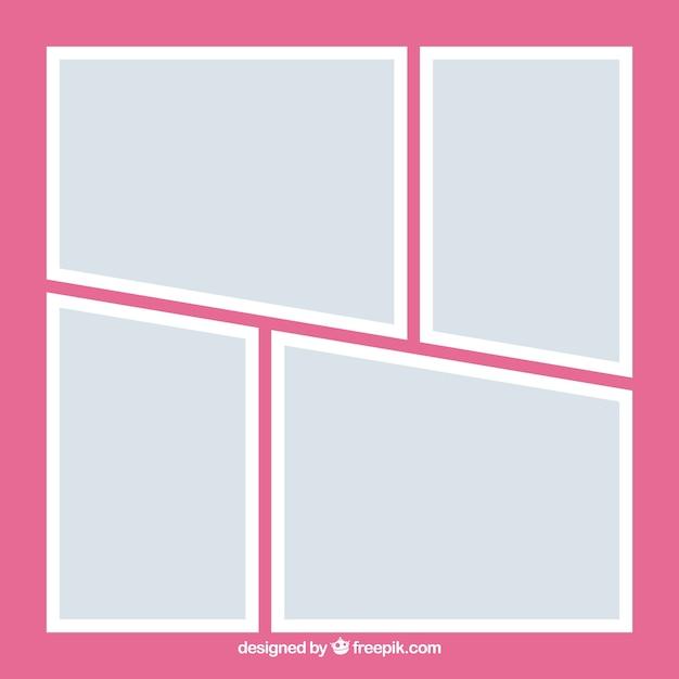 Collection de collage de cadre photo gris Vecteur gratuit