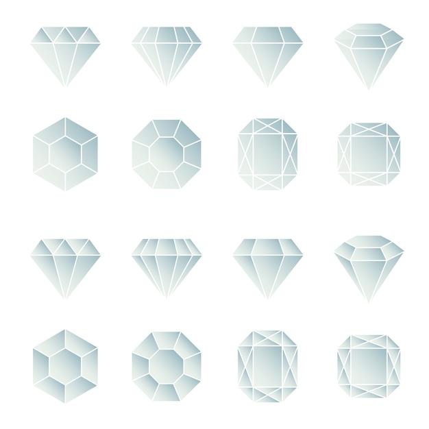 Collection De Conception De Diamants Vecteur gratuit