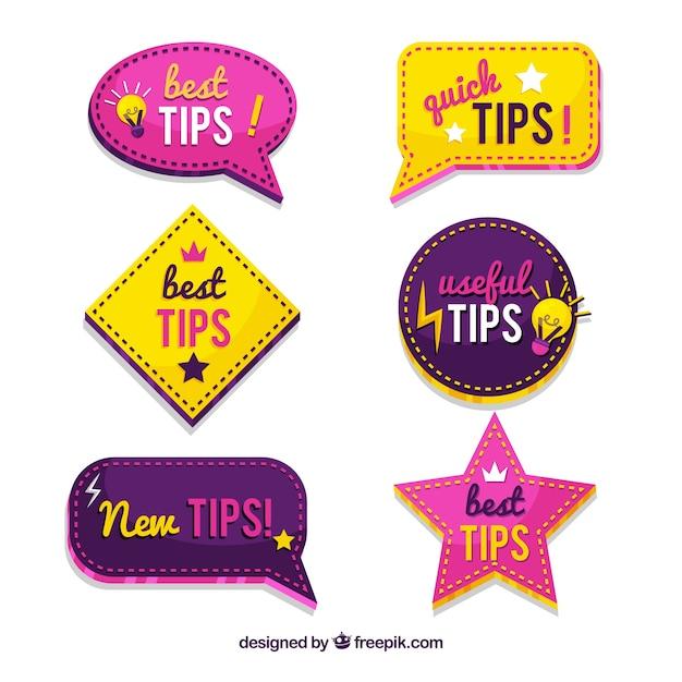 Collection de conseils rapides Vecteur gratuit