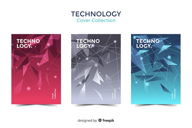 Collection de couverture technologique Vecteur gratuit