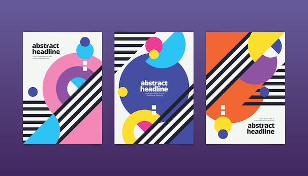 Collection De Couvertures Abstraites Avec Des Formes Géométriques Vecteur gratuit