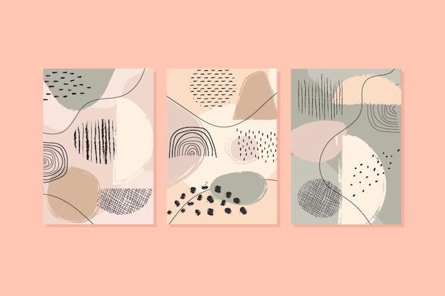 Collection De Couvertures Abstraites Vecteur gratuit