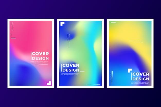 Collection De Couvertures Colorées Abstraites Vecteur gratuit