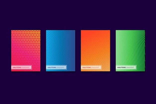 Collection De Couvertures Dégradées Colorées En Demi-teintes Vecteur gratuit