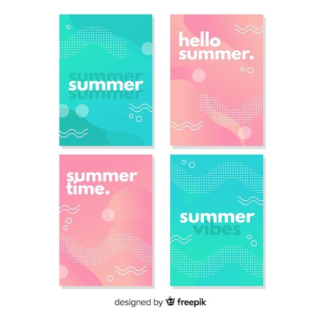 Collection de couvertures d'été Vecteur gratuit