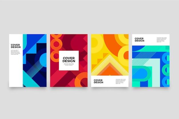 Collection De Couvertures De Formes Dégradées Abstraites Vecteur gratuit