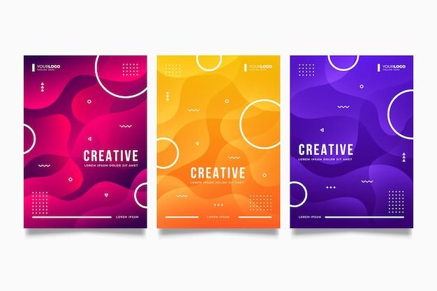 Collection De Couvertures De Formes Dégradées Vecteur gratuit