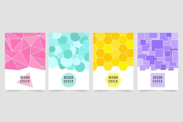 Collection De Couvertures Géométriques Abstraites Vecteur gratuit