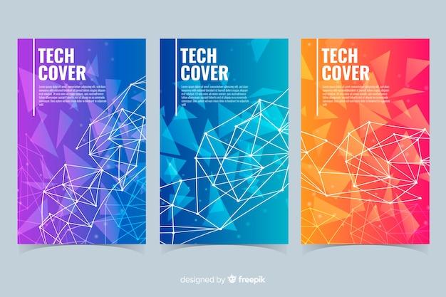 Collection de couvertures gradient technology concept Vecteur gratuit