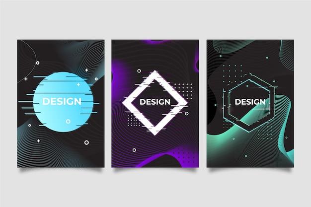 Collection De Couvertures Graphiques Glitch Vecteur gratuit