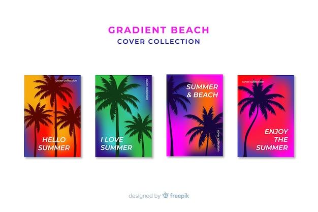 Collection de couvertures de plage dégradées Vecteur gratuit
