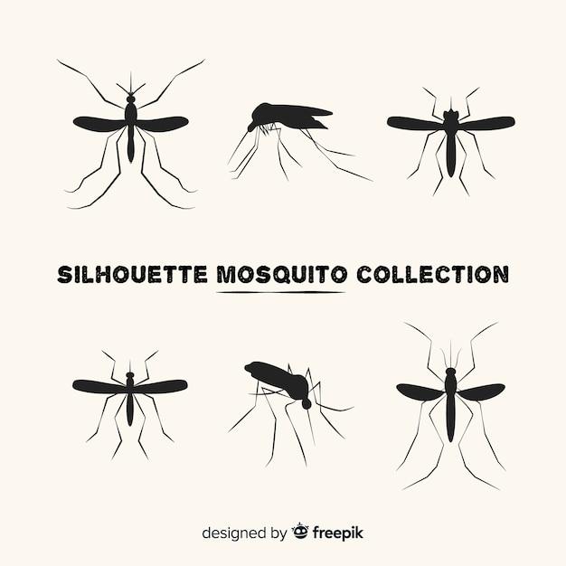 Collection Créative De Silhouettes De Moustiques Vecteur gratuit