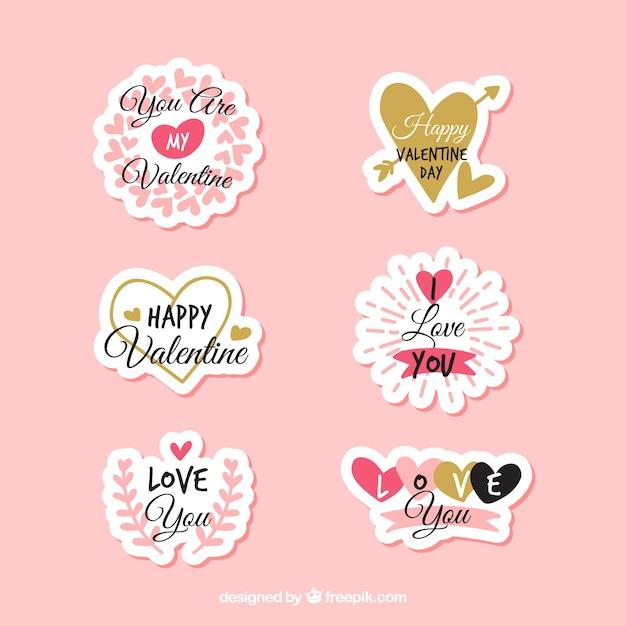 Collection d 39 tiquettes badges pour le jour de la saint - Image st valentin a telecharger gratuitement ...