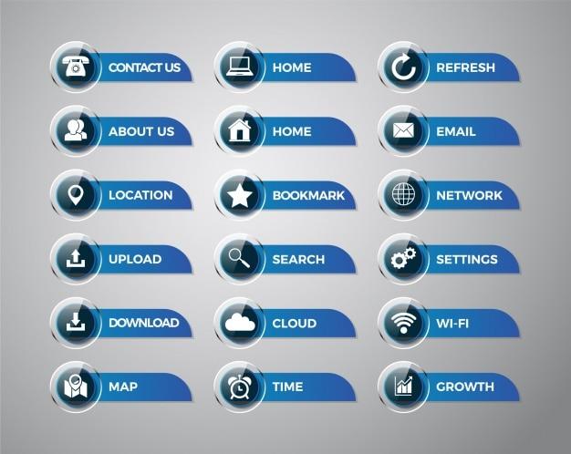 Collection d'étiquettes et d'icônes d'applications mobiles Vecteur gratuit