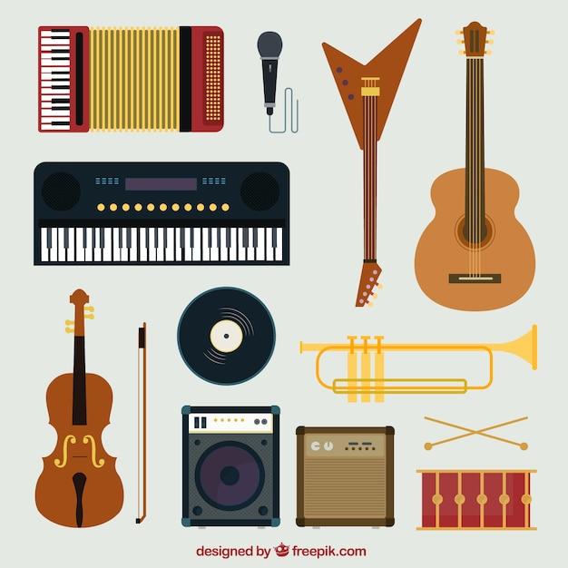 Collection d 39 instruments de musique t l charger des vecteurs gratuitement - Photo d instrument de musique ...