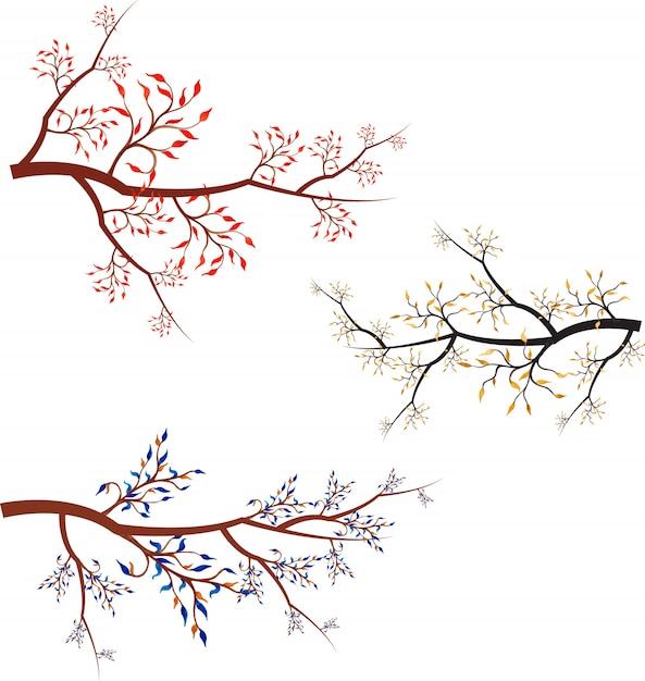 collection de branches vectorielles Vecteur Premium
