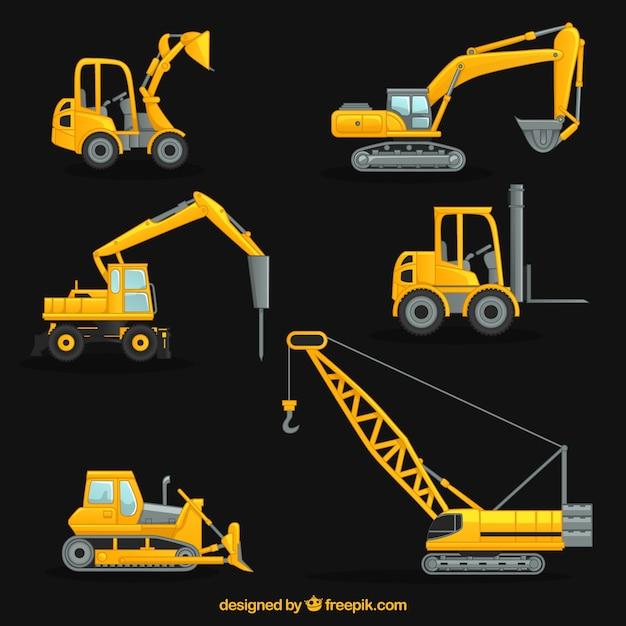 Collection de la grue de construction t l charger des vecteurs gratuitement - Jeux de grue de construction gratuit ...