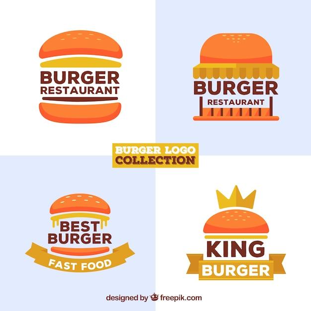 Collection de logo du restaurant Burger Vecteur gratuit