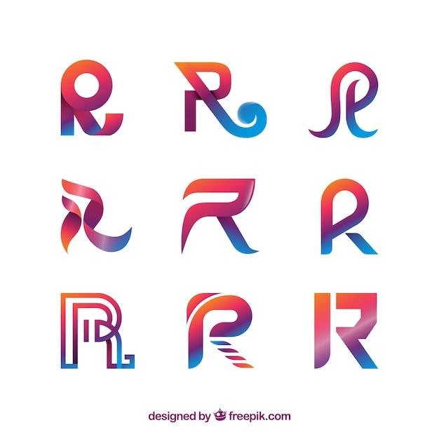 collection de logo lettre moderne t 233 l 233 charger des vecteurs gratuitement